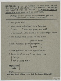 War Letters: Communication between Front and Home Front